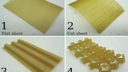 Morphing Metamaterial Created using Kirigami Technique