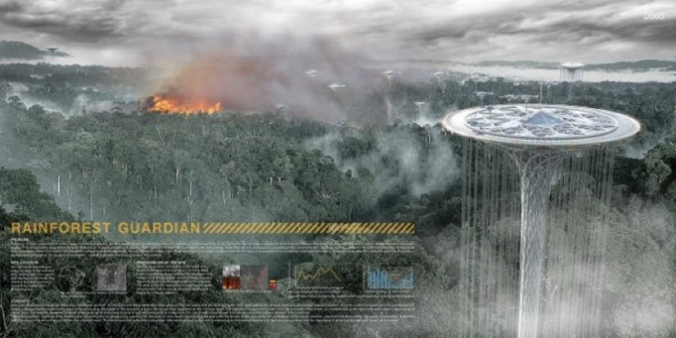 The Rainforest Guardian: Spaceship like irrigation skyscraper for Amazon rainforest