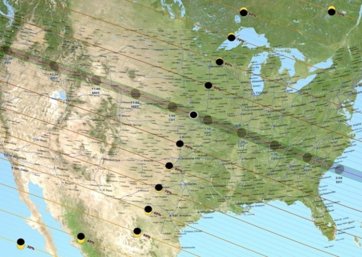 U.S. Anticipates First Total Solar Eclipse Today Since 1918