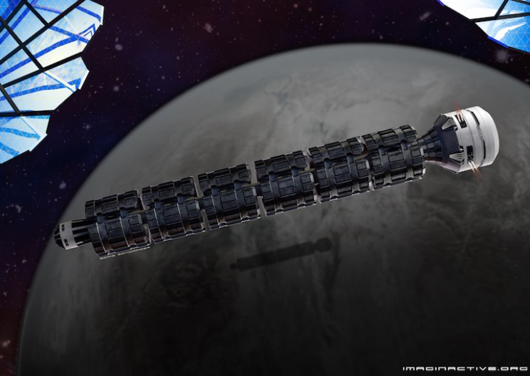 Imaginactive Develops Space Train that can Get to Mars in 2 Days