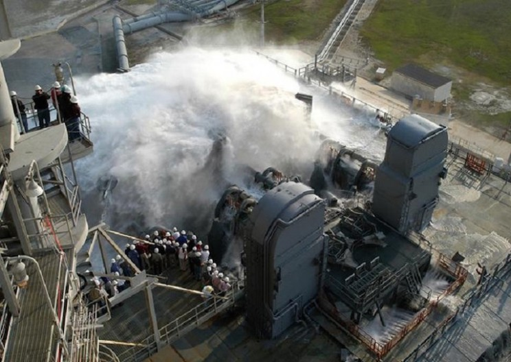 NASA's Incredible Sound Suppression System Prevents Rockets from Exploding