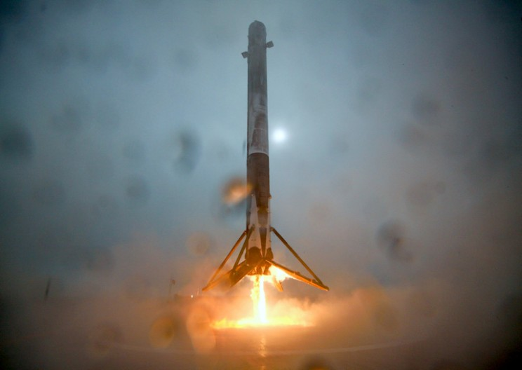 SpaceX Makes History: Lands Rocket On Floating Drone Ship