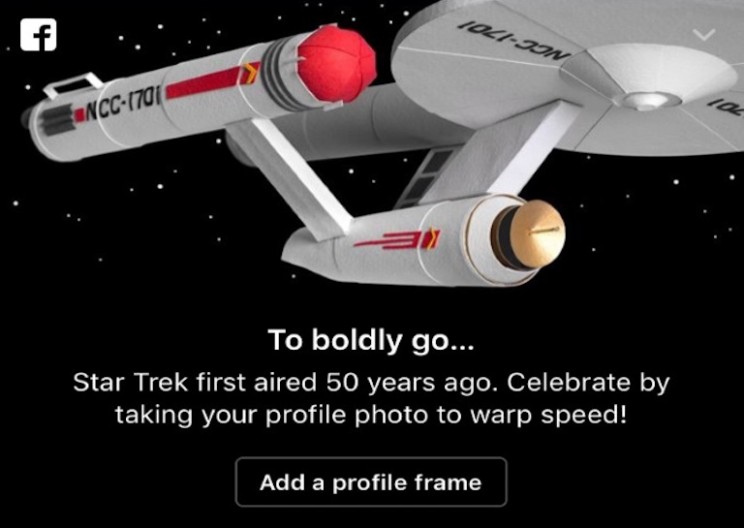 Facebook Adds Star Trek Reactions in Celebration of 50th Anniversary