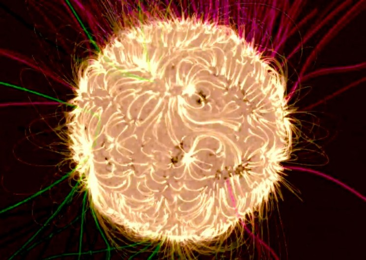Watch How the Sun's Magnetic Forces Halted an Intense Solar Eruption