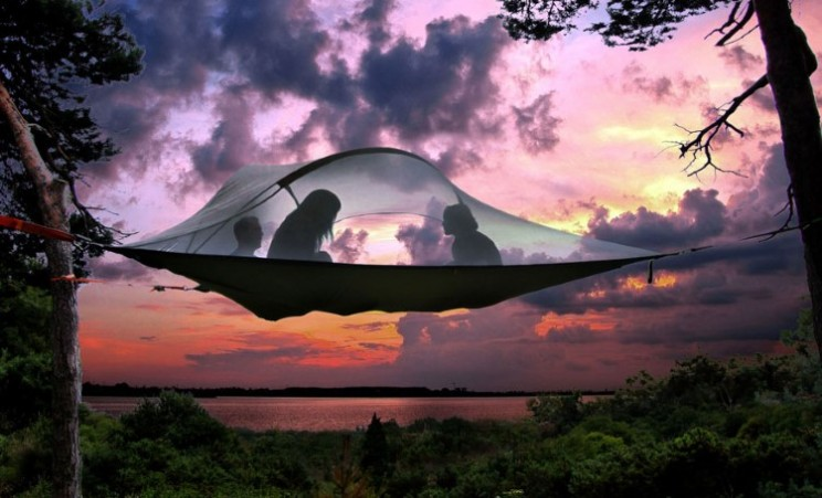 Sleep in the trees in the Tentsile tree house tent