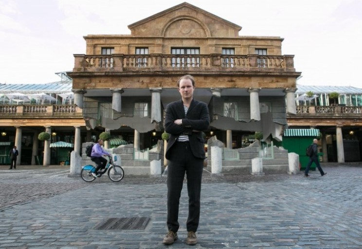 Covent Garden levitating building leaves Londoners awestruck