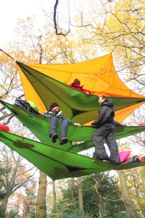The Vista is the portable multi-storey tree house tent