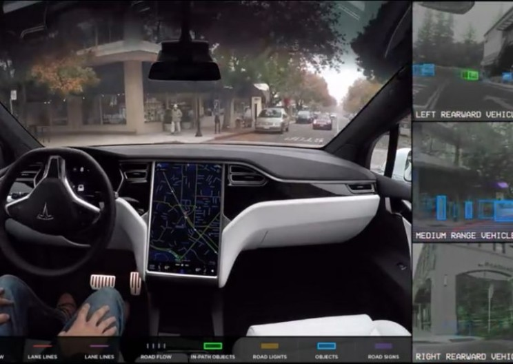 Watch What the Tesla Autopilot Sees While Driving