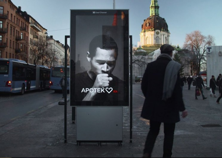 Interactive Billboard Coughs When Someone Smokes Nearby
