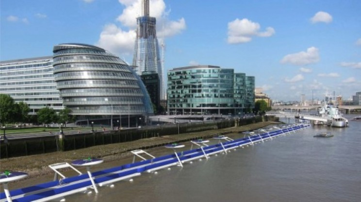 Take a ride on a floating cycle path on the River Thames