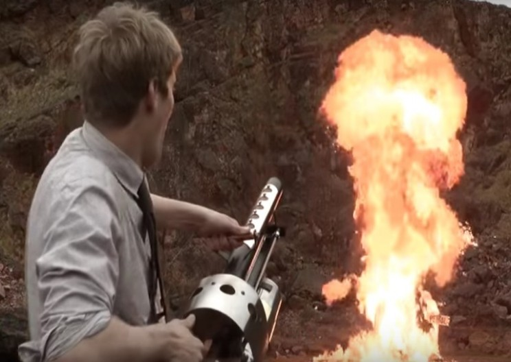 This Guy Built an Explosive Thermite Launching Cannon