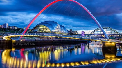 Gateshead Millennium Bridge: World's Only Tilting Bridge
