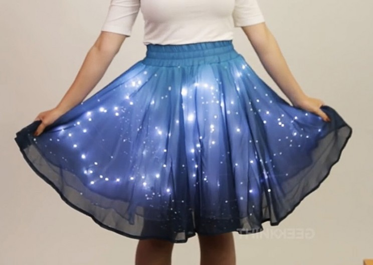 Wear Your Own Starry Night with This LED Skirt