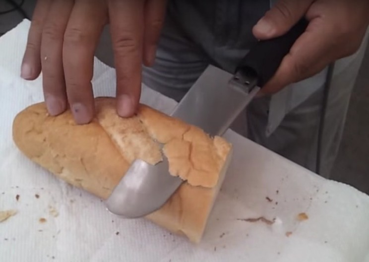 Ultrasonic Knife Cuts Through Bread Like Butter!