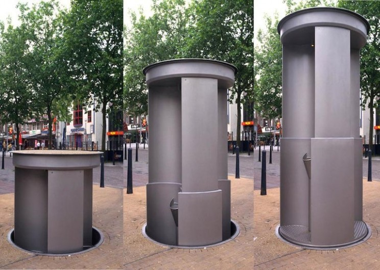 Imagine a Pop-up Toilet: Urilift Rises From the Ground