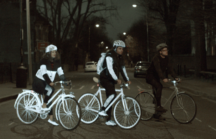 Volvo Life Paint could save cyclist's lives