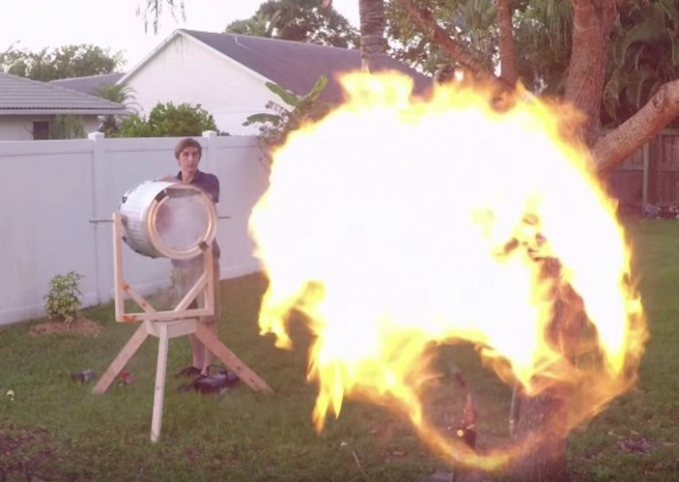 This Propane-Filled Vortex Cannon is Probably a Bad Idea