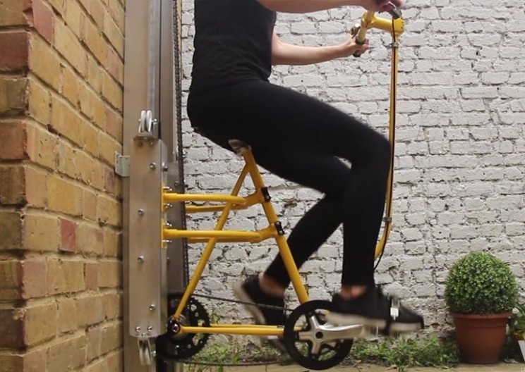 Riding This Pedal-Powered Lift Is Way Better Than Taking the Stairs