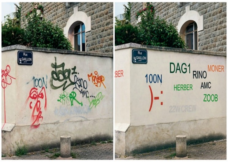 Street Artist Edits Ugly Graffiti to Make it Legible