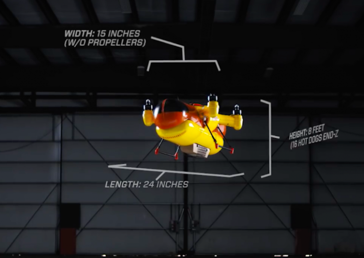 This Tasty-Looking Drone Is Built to Rain Down Hot Dogs on People