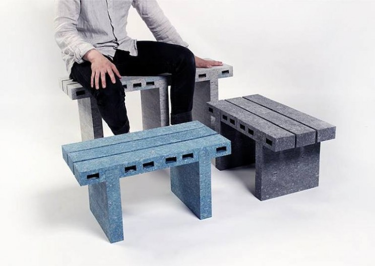 Tough, Fancy, and Recycled PaperBricks Furniture Made by Waste Papers