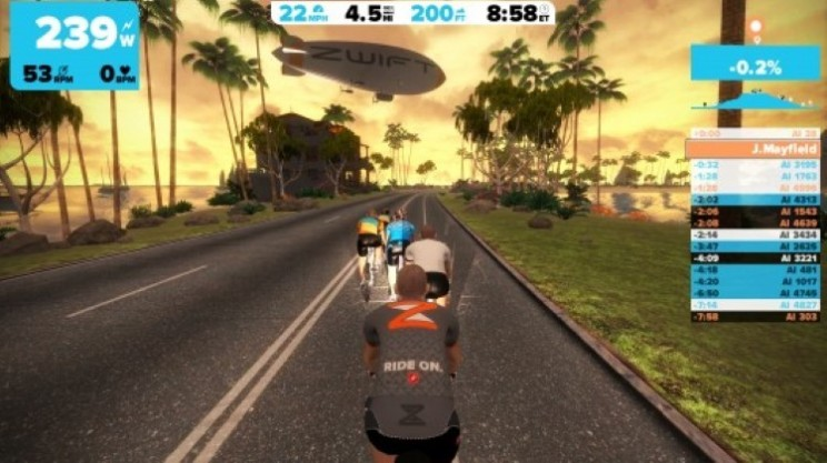 Zwift: MMOG meets indoor bicycle trainer