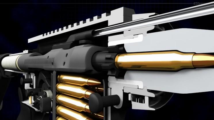 3d Animation Shows How An Ar 15 Semi Automatic Rifle Works