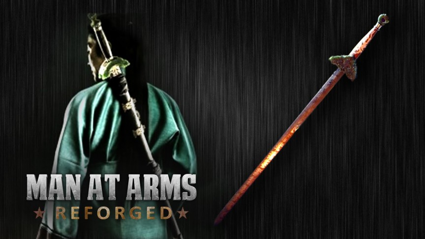 Team of Artisans Hand Forge Intricate Green Destiny Sword