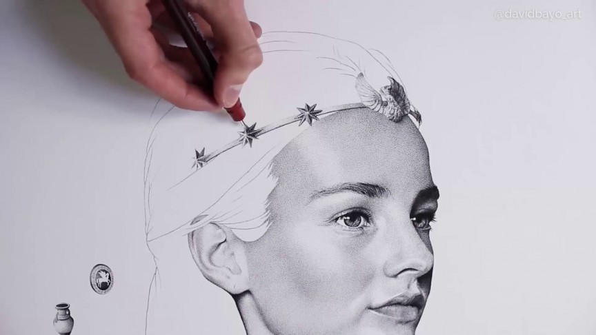 This Artist Creates A Stunning Portrait From 3 Million Ink ...