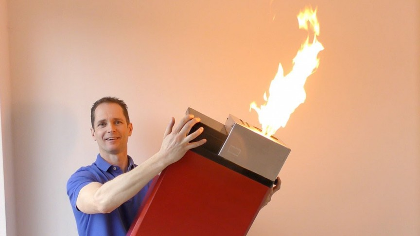 This Huge Cigarette Lighter Can Easily Burn Down a Small Tree