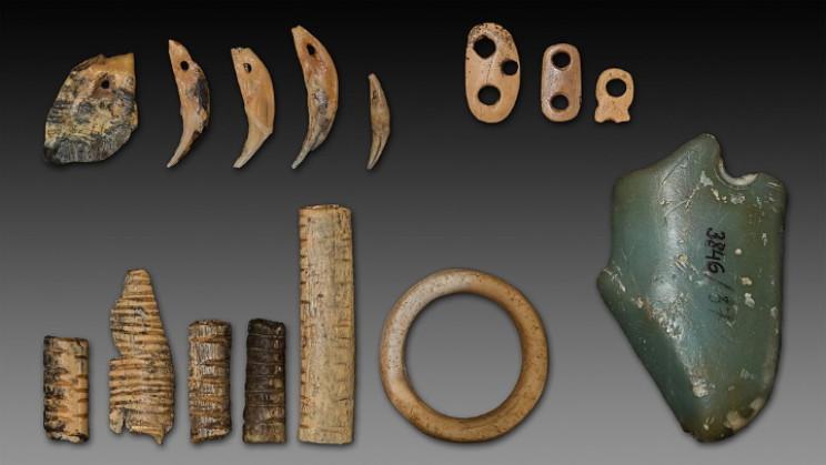 Artifacts found in Denisova Cave