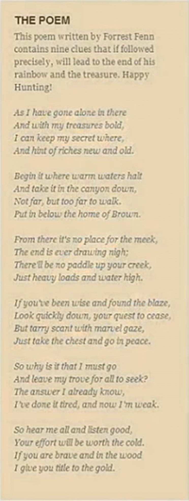 Fenn poem