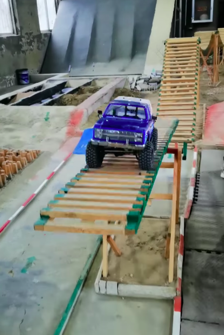 RC Chevy Blazer Smashes Its Way Through Obstacle Course