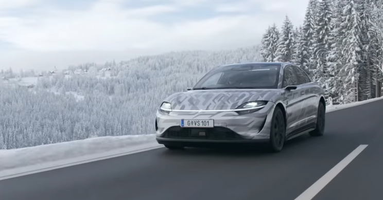 Watch Sony Test Drive Its Vision-S Prototype Vehicle on Public Roads