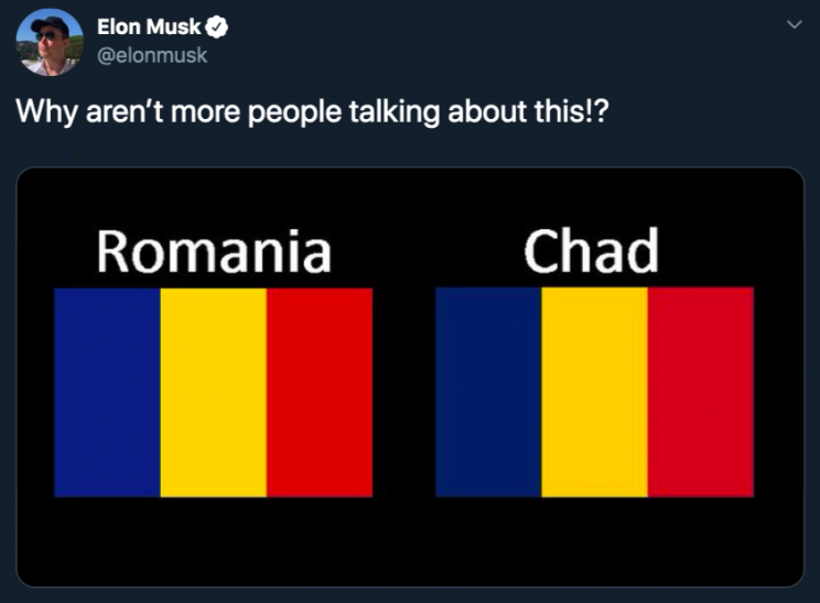 "Elon Musk says Tesla is ""hoping to open"" in Romania Soon Following Tweet About Country's Flag"