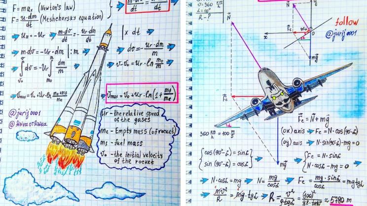 Teacher Makes Beautiful Illustrations of Your Favorite Physics Formulas