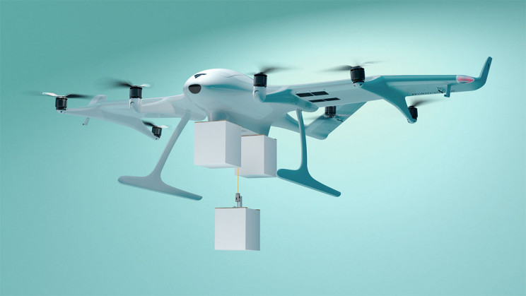 World's First Triple-Drop Delivery Drone Takes Off