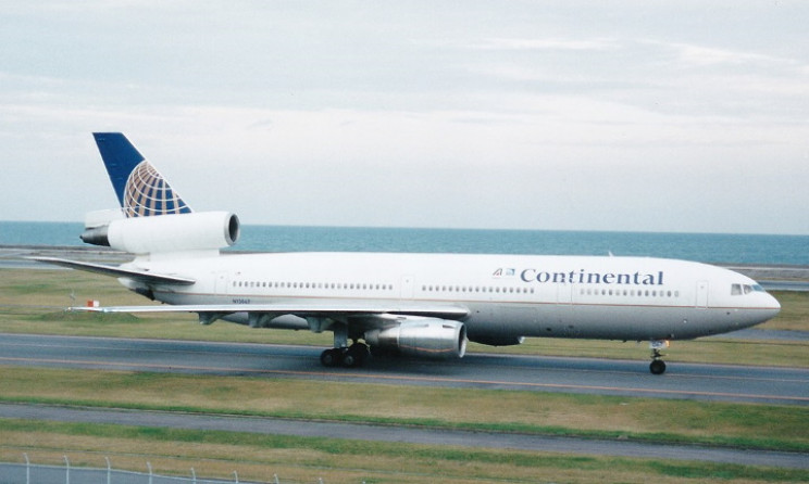 Continental DC10 which lost a part