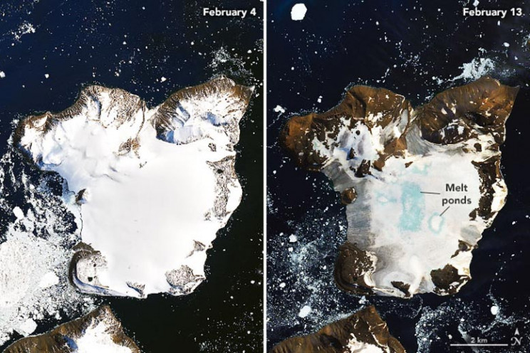 Antarctica Heat Wave Causes Massive Ice Melting, NASA Satellite Images Show