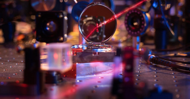 Optical Mirror Thinner Than Hair, Still Has Visible Reflection