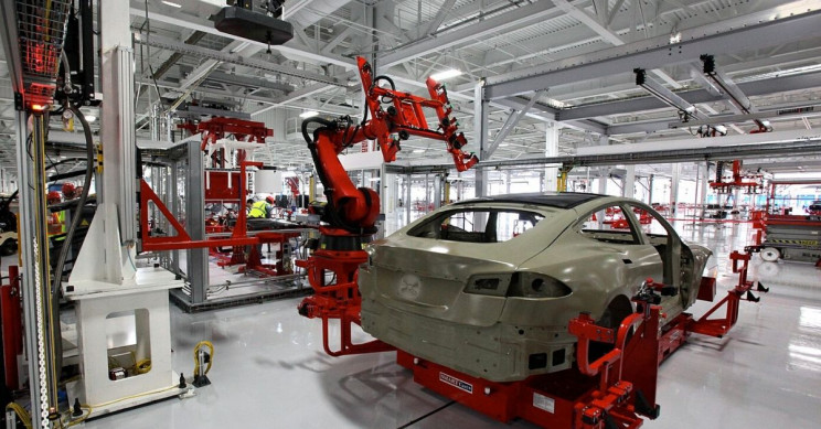 Tesla's China Factory Reportedly Halts Production Due to Component Shortage