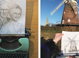 Artist Creates Intricate Drawings and Portraits Using His Oldschool Typewriter