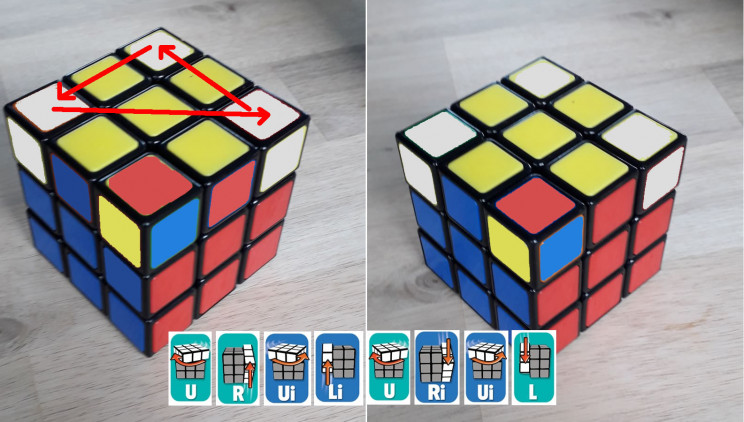 rubiks cube get corners in place