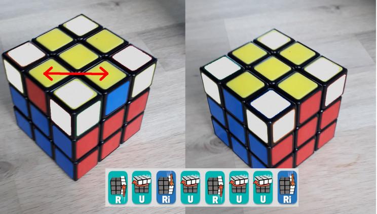 shuffle edge pieces top row