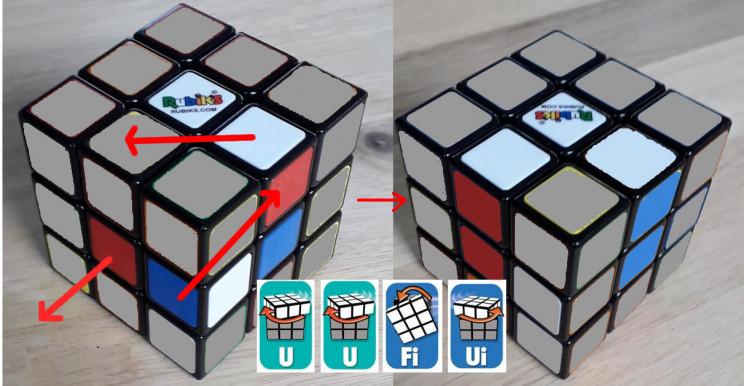 solve rubiks cube edges
