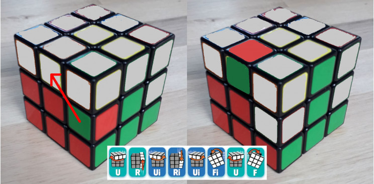 rubiks cube mid to top