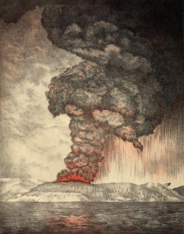 Krakatoa exploding