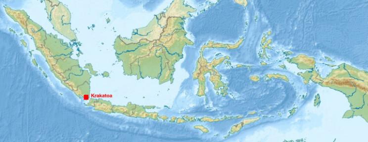 Map of Krakatoa Island