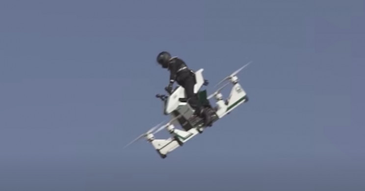 Russian Hoverbike Comes Crashing Down From 100 ft in Dubai