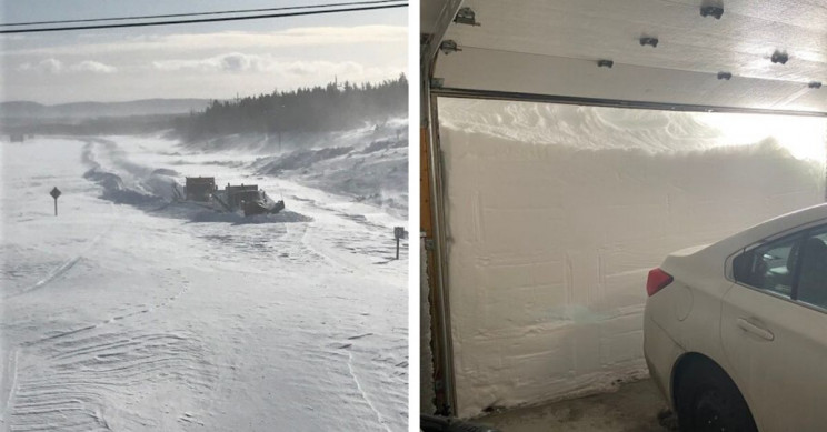 Astonishing Images of Canadian Blizzard Show Piles of Snow as High as 5 Foot 8""